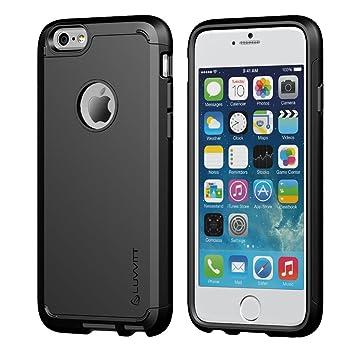 LUVVITT - Carcasa para iPhone 6 Plus y 6S Plus, absorción de golpes, resistente, doble capa