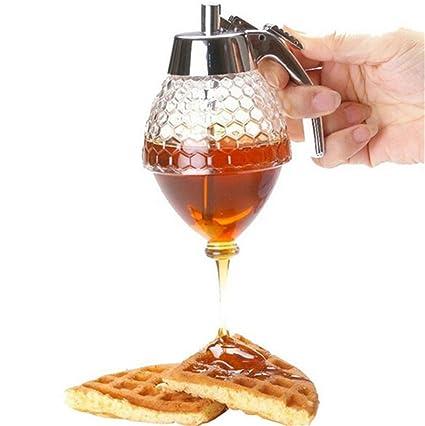 ihrkleid miel Pera/dosificador de miel con Stand miel dispensador de retención de retención de