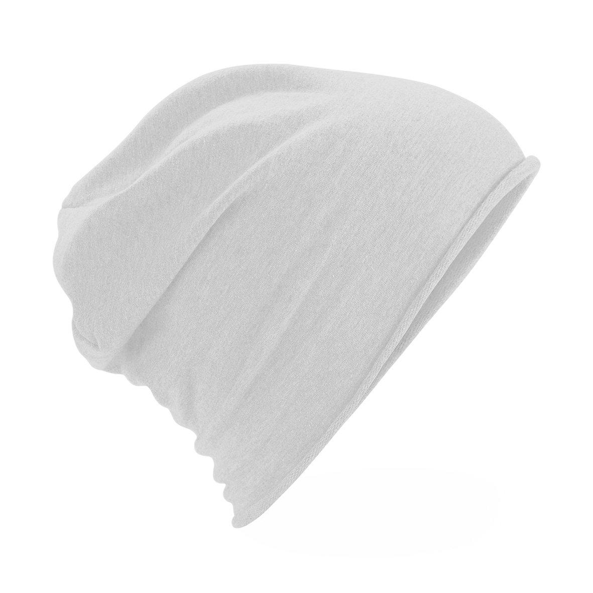 a621781385c Beechfield - Bonnet uni - Homme (Taille unique) (Blanc)  Amazon.fr   Vêtements et accessoires