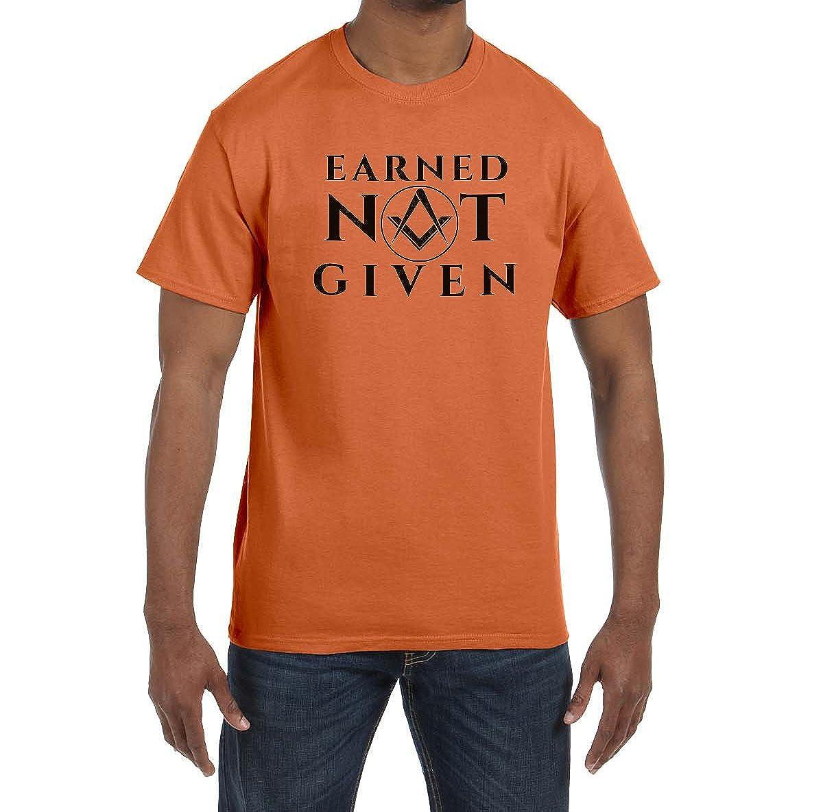 Earned Not Given Masonic Mens Crewneck T-Shirt