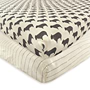 Hudson Baby 2 Piece Cotton Fitted Crib Sheet, Sheep, One Size