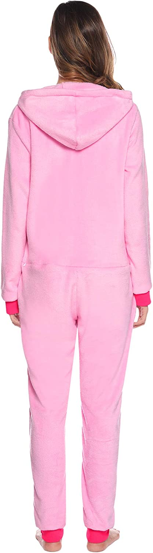 Aibrou Womens Onesies Pyjamas Jumpsuit Coral Fleece Hooded Christmas Onesies or Robe