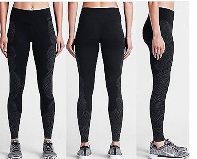 Nike Womens Legendary Engineered Tidal Tight 724952-010, Black/Anthracite/ Black,