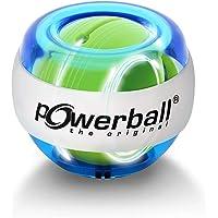Powerball Lightning Blue, gyroscopische handtrainer met blauw lichteffect, transparant blauw, het origineel van…