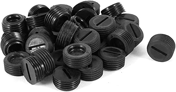 uxcell 5pcs 16mm Threaded Dia Motor Carbon Brush Holder Cap Replacement Black