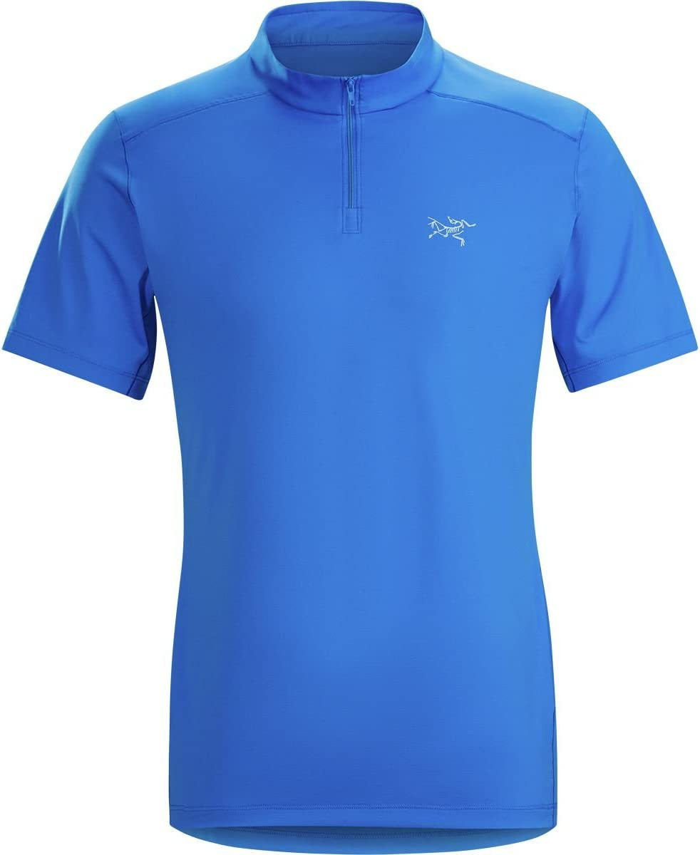 Arcteryx Mens Phasic Evolution SS Zip Neck XL Rigel