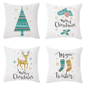 Cojines Navidad,Conjunto Fundas Cojines 45x45 Modernos ...