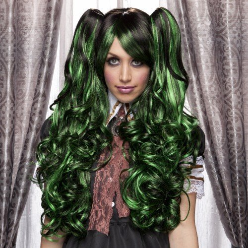 Blush Joi Wig - Anime/Lolita Style (Green Shadow) by West - Bay Mall Stores Green