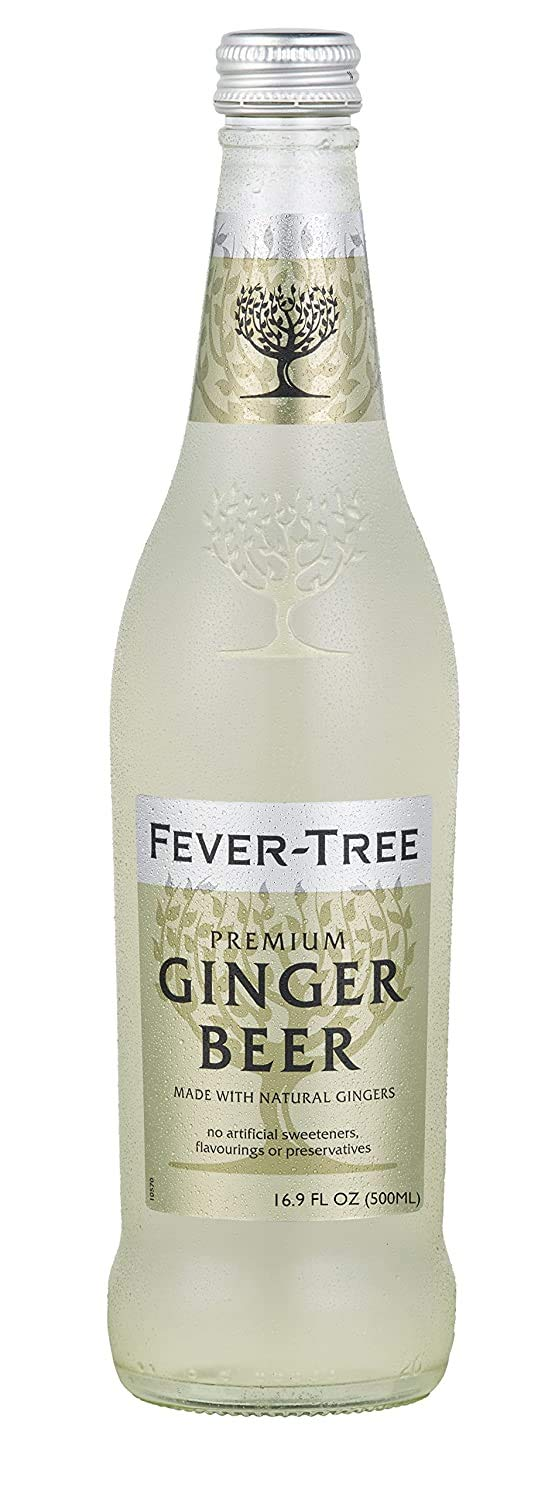 Fever-Tree Premium Ginger Beer - 500mL Bottles, Pack of 8 - Premium Cocktail Drink Mixer - Made With Natural Flavors and No Artificial Sweeteners or Preservatives