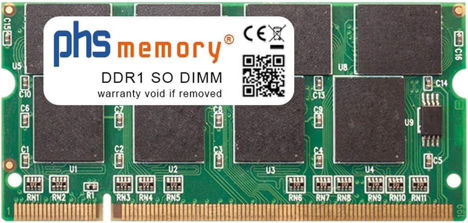 PHS-memory 1GB RAM módulo para Toshiba Satellite A50-PSA50E DDR1 SO DIMM 333MHz PC2700S