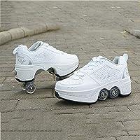 Wedsf Vervorming Schoenen 2-In-1 Multi Purpose Schoenen Vierwielige Roller Schoenen Mode Casual Automatische Dual…