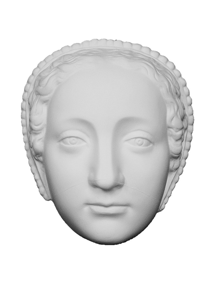 石膏像 M-431 貴婦人半面 H.19cm B008F848LG