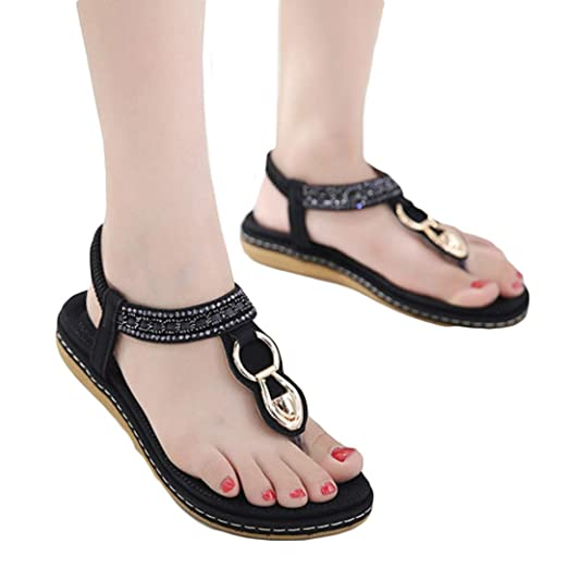 9ba6848812a1 Summer Flat Sandals Ladies Bohemia Beach Flip Flops Shoes Sandles Clip Toe  Shoe (5