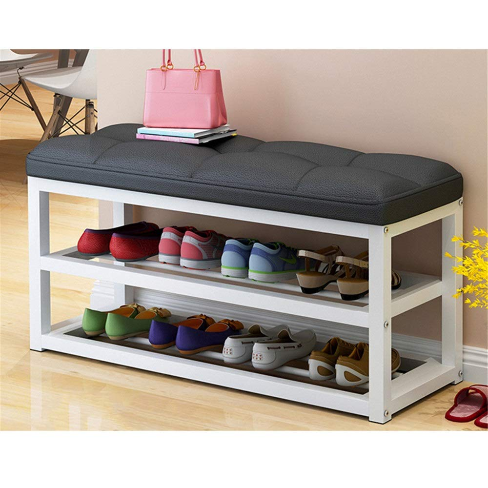 Black shoes Racks shoes Rack Multi-Layer Household Simple Dust-Proof Storage shoes Cabinet Wrought Iron Economy Modern Assembly shoes Bench Fit Home shoes Tower Cabinet Storage (color   Black)