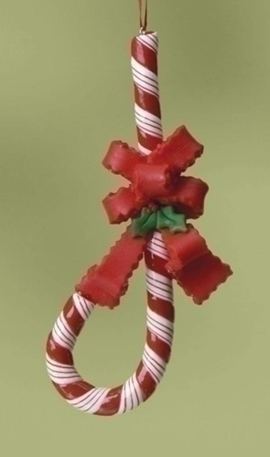 Amazon.com: Roman J Shape Upside Down Candy Cane For Jesus with Bow ...