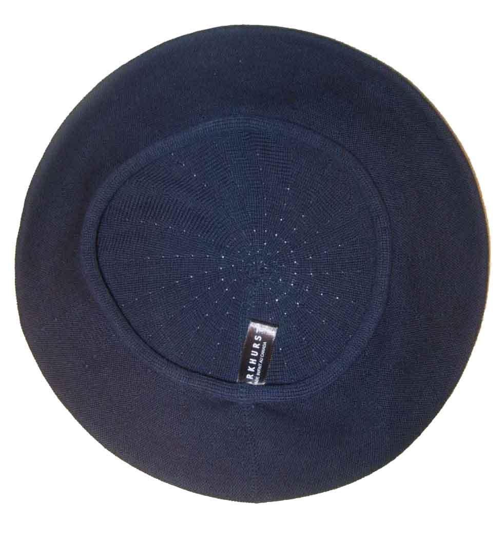 Parkhurst of Canada 10-1/2 Inch Cotton Knit Beret Navy