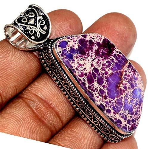 Handmade Variscite Jasper Gemstone 925 Sterling Silver Pendant ()