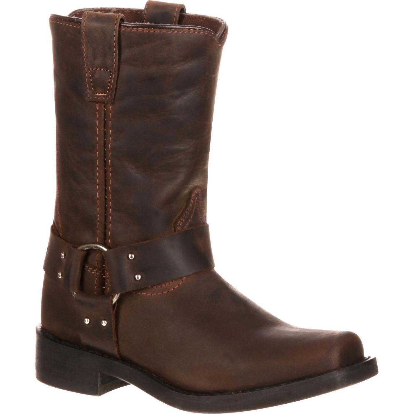 Durango Boot Children's DBT0123 8'' Harness,Distressed Brown Leather,US 13 M