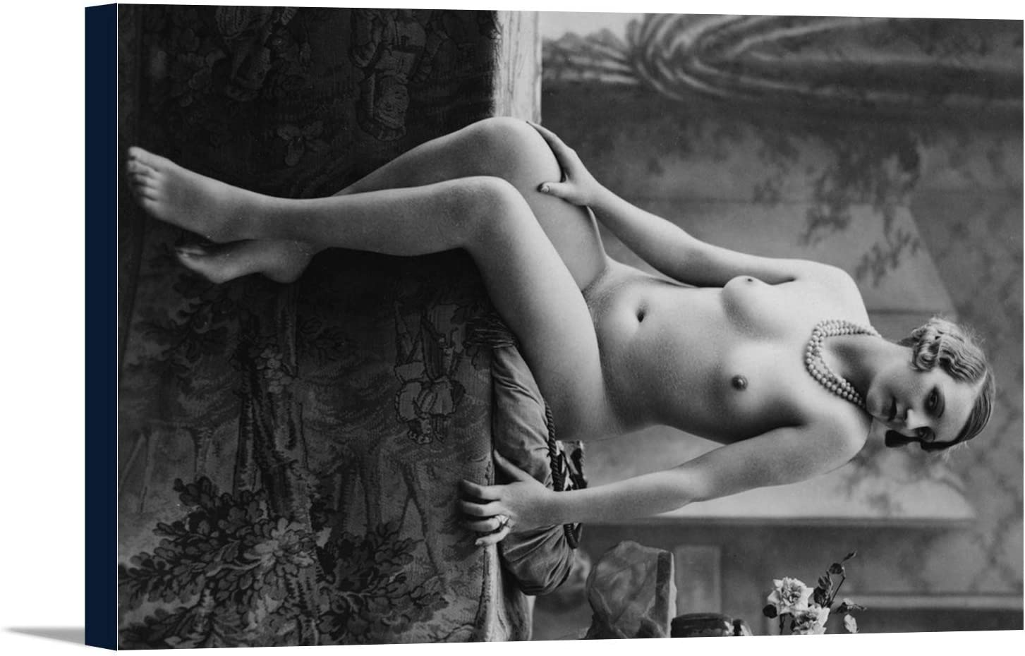 B0181NSC9S Nude Woman French Art NouveauPhotograph #7 (18x12 Gallery Wrapped Stretched Canvas) 61ERc89CBvL