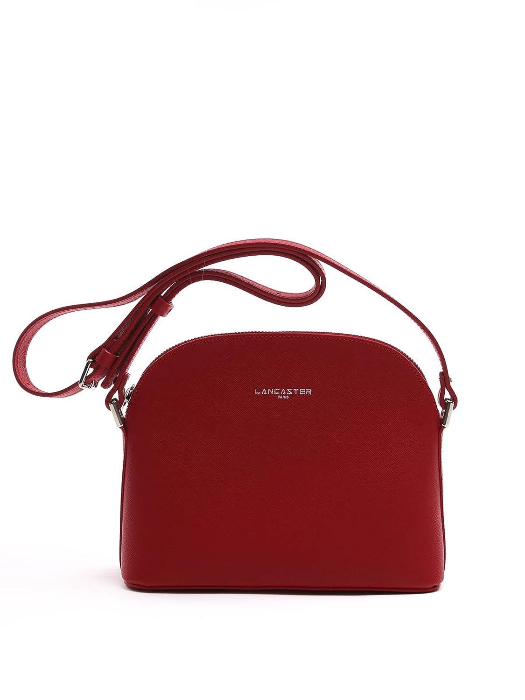 LANCASTER PARIS WOMEN'S 42158ROUGE RED LEATHER SHOULDER BAG