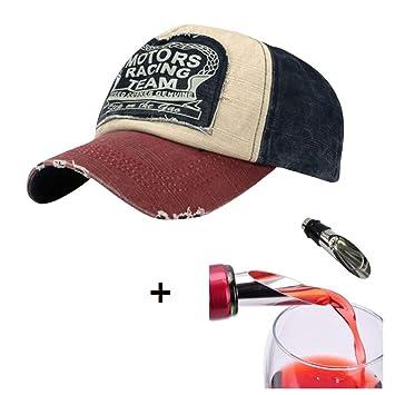 269b836c6f9b0 Malloom® Nueva unisex gorra de béisbol algodón mezclado motocicleta Gorra  molienda borde do old Sombrero (rojo)  Amazon.es  Hogar