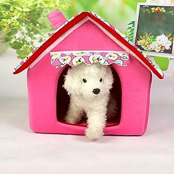 Skyoo - Cama para mascotas, perro, gato, tienda de campaña lavable, para perros pequeños, tira de perro, cama de peluche para interior: Amazon.es: Productos ...