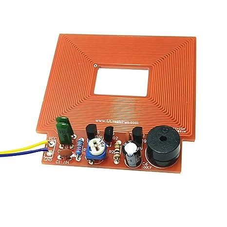Gazechimp Kit de Detector de Metales Bricolaje Electrónico Uso Entretenimiento de Juegos Control de Seguridad