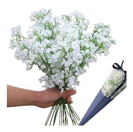 12 Piezas Flores Artificiales Flores De Seda Falsas Ramo De