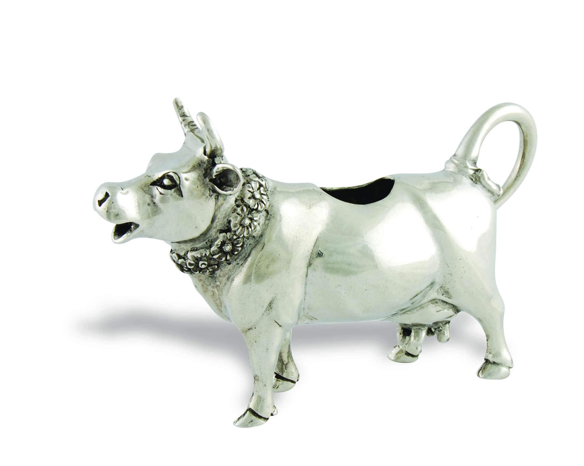 Vagabond House Pewter Mabel Cow Creamer 6''Long x 4'' Tall