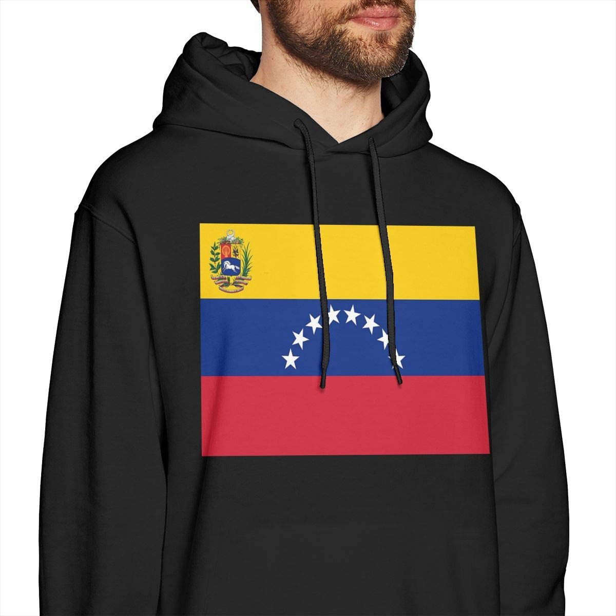 Mens Hoodies Venezuela Flag Fashion Pullover Hooded Print Sweatshirt Jackets