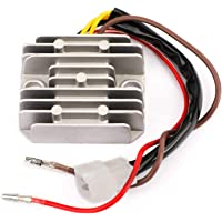 Kit de regulador de estabilizador de voltaje de ahorro de combustible universal con 3 cables de tierra para camiones de autom/óviles Aramox Volt Regulator Blue