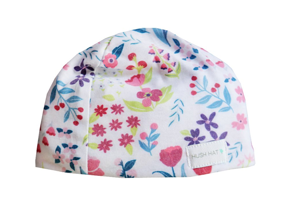 Hush Baby Hat with SoftSound Technology and Medical Grade Sound Absorbing Foam, Purple Poppy/Small