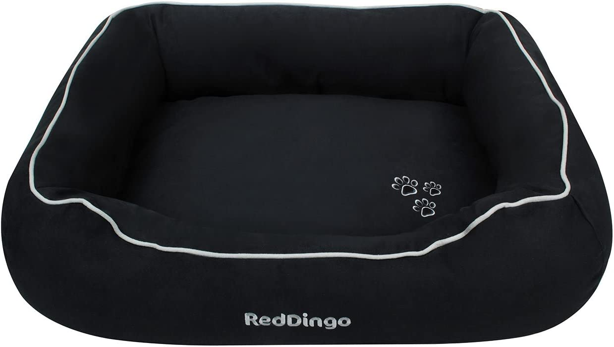 Red Dingo Dog Cushion Oval with Lip