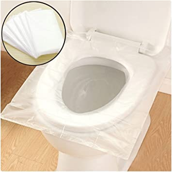 Disposable Toilet Seat Covers Waterproof Toilet Plastic Mat Anti Bacterial Sanitary Toilet Pad For Kids Baby Pregnant Mom Best For Hygienic Public Travel Camping 50 Pack By Purplesalt Amazon Co Uk Diy Tools