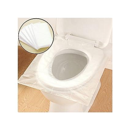 Cobertura para asiento de inodoro desechable, alfombra de papel higiénico impermeable, antibacteriano para niños