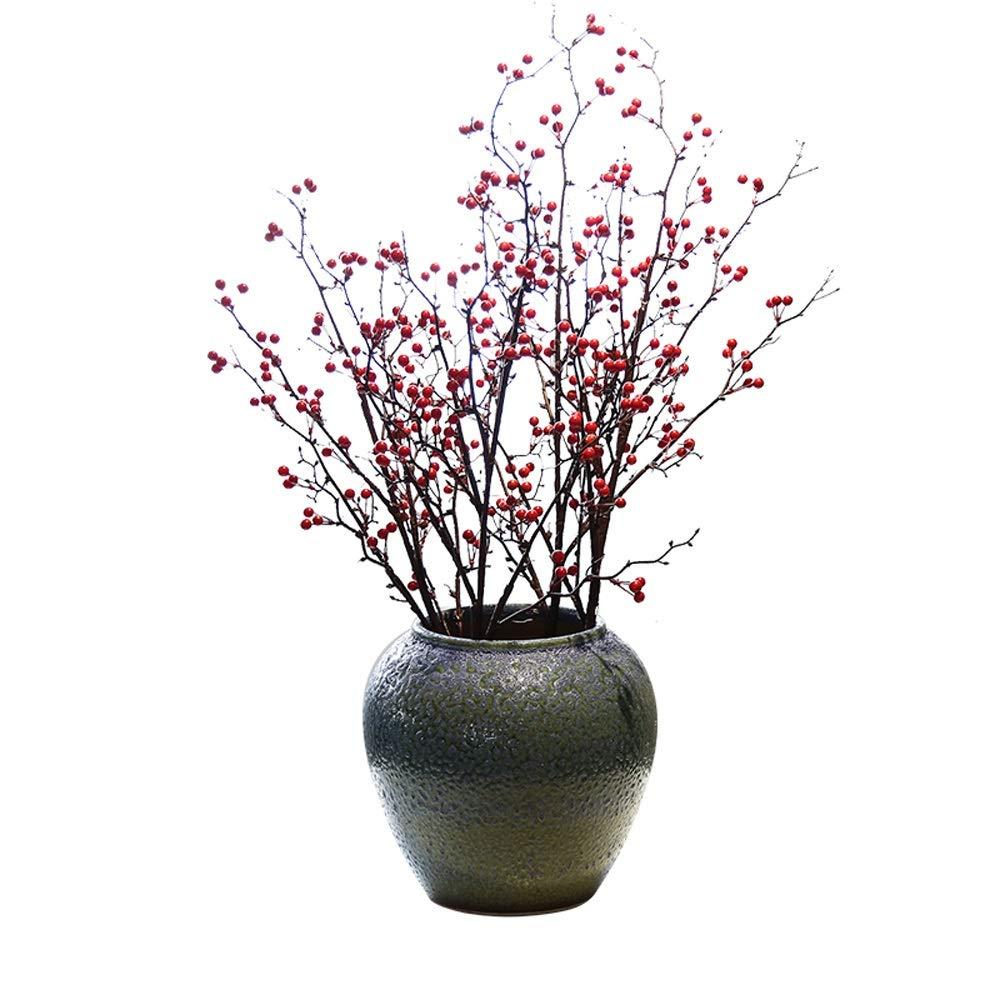セラミック花瓶用花緑植物結婚式の植木鉢装飾ホームオフィスデスク花瓶花バスケットフロア花瓶 B07RL6XV91