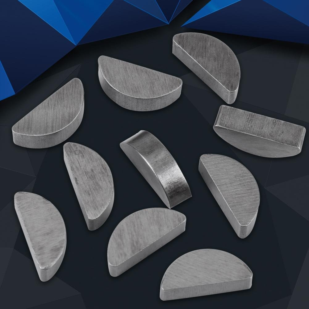 80pcs Metallo Woodruff Keys Semicircle Assortment Box Kit Set diverse Dimensioni Fasteners Industria Meccanica