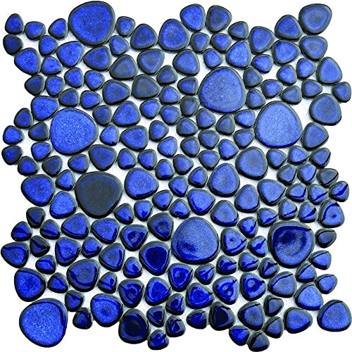 Porcelain Cobalt Pebble Tile 12x12