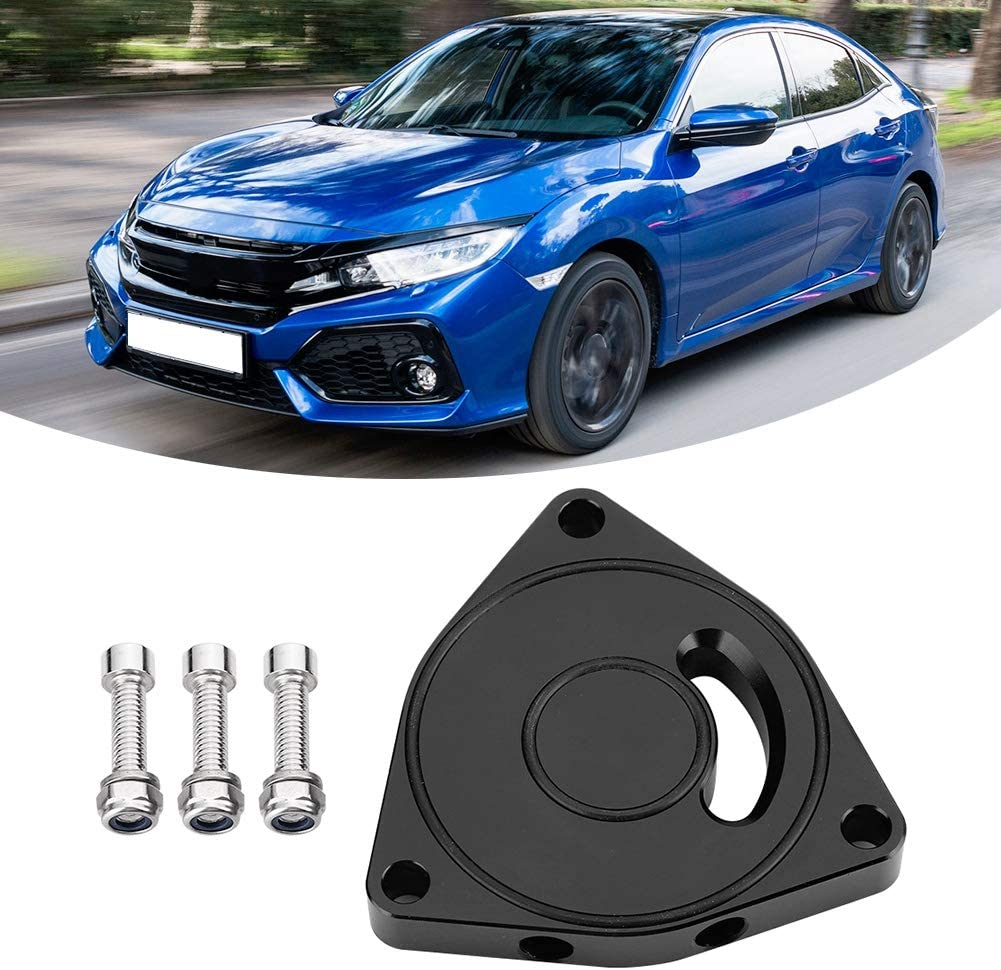 Car Aluminum Alloy Turbo Blow Off Valve Plate Spacer BOV 1.5T Fit for Honda Civic 2015-2019 Turbo Blow Off Valve Spacer Blow Off BOV Sound Plate