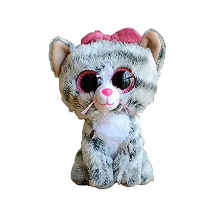 JEWH [ 15cm Ty Beanie Boos Gray Dog - Plush Toy - Birthday Gift Stuffed &