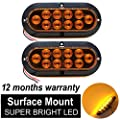 (Pack of 2) Surface Mount Tail light Trailer Truck Brake & Turn Signal light combo