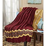 Herrschners Spiced Ripple Throw Crochet Afghan Kit offers