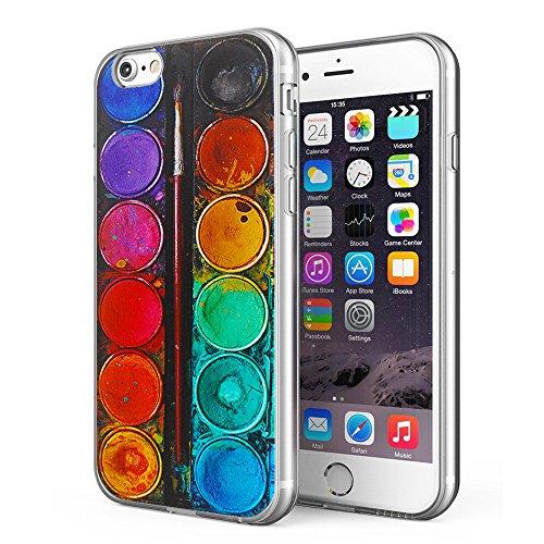 iPhone 6 Plus / iPhone 6S Plus Case, Litech™ [FlexFit] Clear Design Printed Transparent TPU Bumper Protective Back Phone Case Cover for Apple iPhone 4.7 Inch (Color Palette)