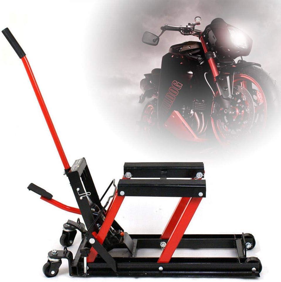 OUKANING Kit de Levage hydraulique hydraulique pour Moto Noir//Rouge