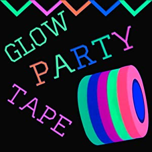 UV Neon Tape - Reactive to Ultra Violet Light for Glow Party | 250ft of Blacklight Tape | 5 x 50ft Orange, Green, Yellow, Pink & Blue | Glow Runs, Dances, Birthdays (Ultra Violet Tape - ONLY)