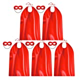 Red Superhero Capes and Masks for Adults