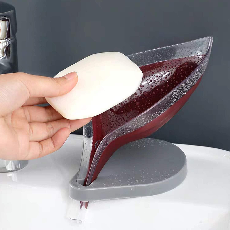B 3 Pezzi Portasapone a Forma di Foglia Portasapone Decorativo in Plastica Contenitore per Drenaggio Porta Sapone Drenante Accessori Bagno per Cucina e Bagno