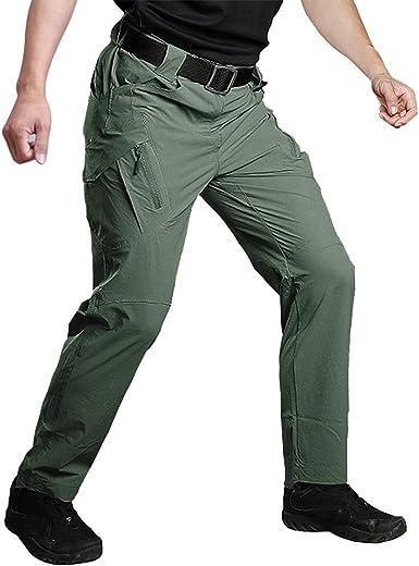 Amazon Com Susclude Pantalones Tacticos Militares De Secado Rapido Para Trabajo Al Aire Libre Para Hombre Pantalones Ligeros Para Senderismo Clothing