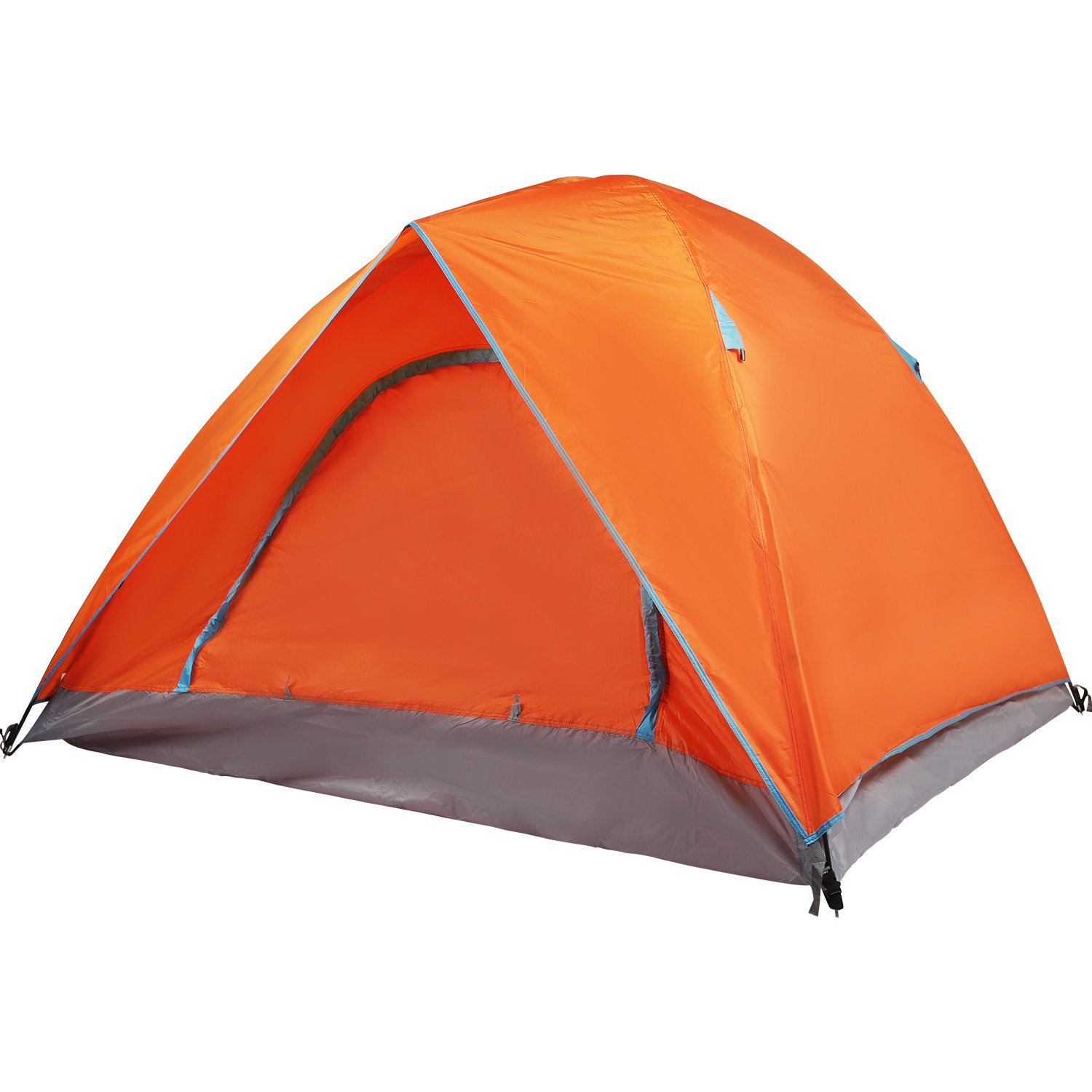 REDCAMP 2 Person Camping Tent Waterptoof, 3 Season Lightweight Dome Tent with Double Layers for Outdoor Backpacking, Orange by REDCAMP