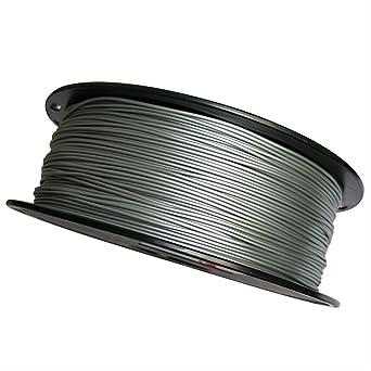Uniqstore Metal Plata 3D Impresora Filamento, PLA 1.75mm, 1KG ...
